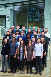 BOVTS 2016 graduating actors in front of new Link Building. Eleanor Jackson second row, far right. Credit Stewart McPherson