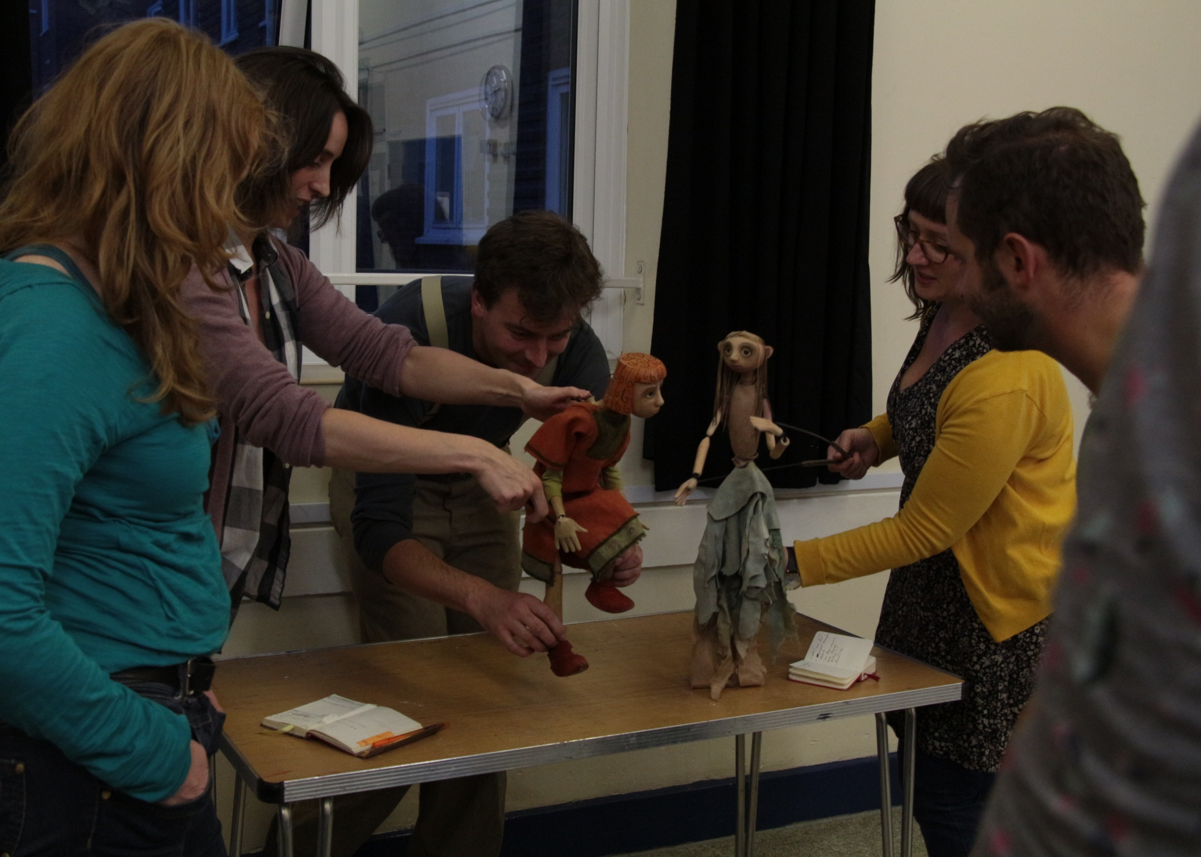 Puppetry workshop at Little Angel Studios.